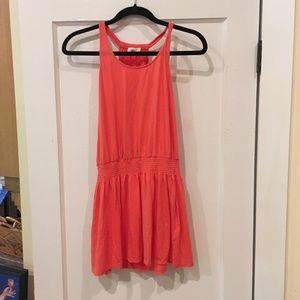 Joie Salmon Drop Waist Dress